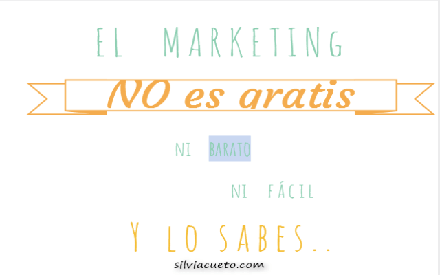 MARKETING NO ES GRATIS